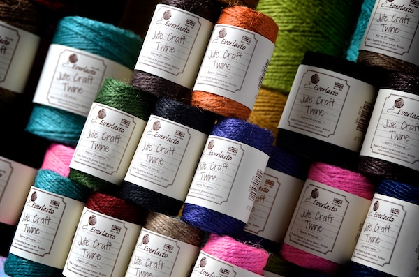 jute crafting twines in over 2o colours avaiable in different sppols