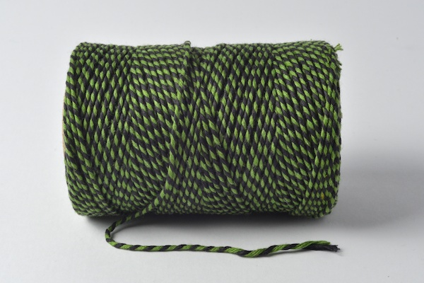 bakers twine black and lime green