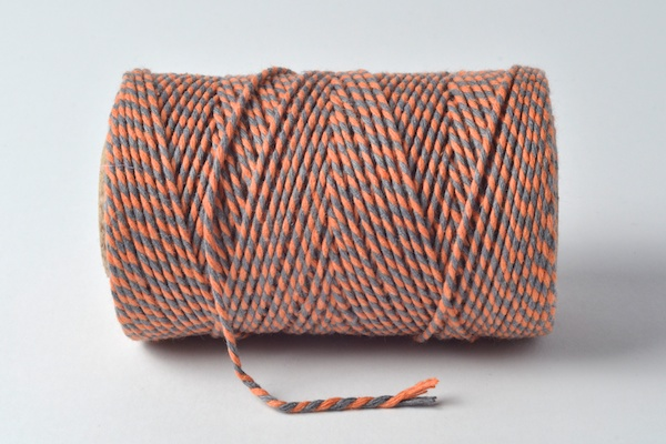 bakers twine orange and grey
