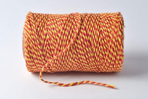 bakers twine red and yellow coloured
