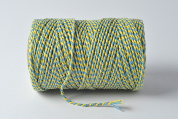 blue and yellow bakers twine